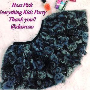 Epic Threads Black w/silver/blue tutu skirt